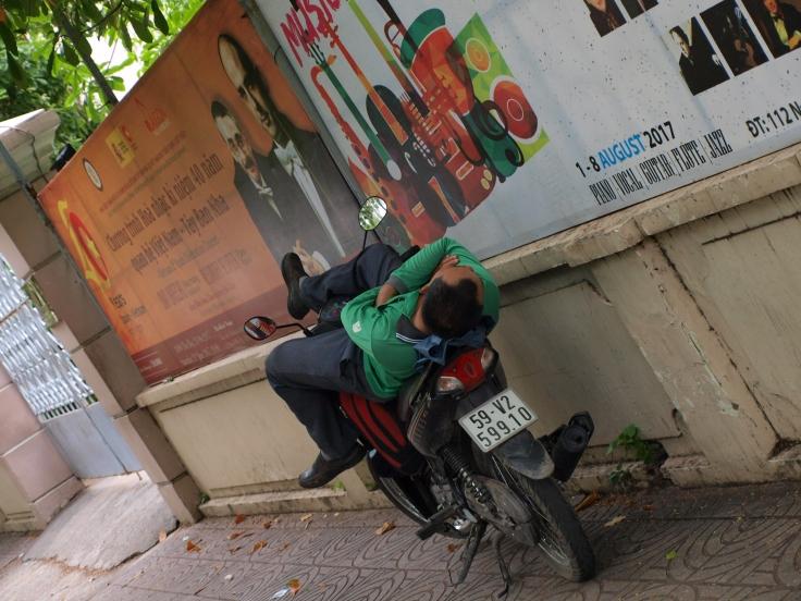 Motocyklista w Sajgonie
