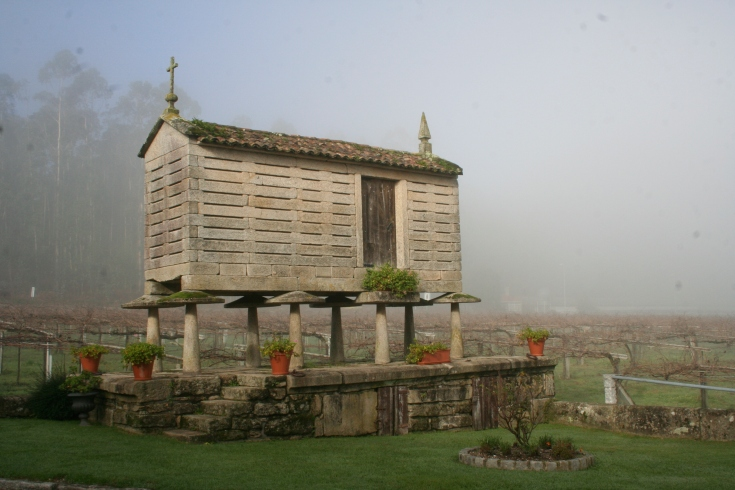 Hórreo w miejscowości Tremoedo.